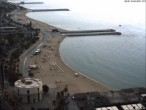 Archived image Webcam Barcelona - View to the Beach 04:00
