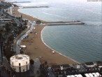 Archived image Webcam Barcelona - View to the Beach 12:00