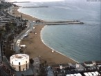 Archived image Webcam Barcelona - View to the Beach 14:00