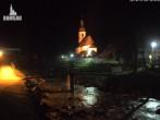 Archiv Foto Webcam Malerwinkel in Ramsau bei Berchtesgaden - Ortskirche St. Sebastian 22:00