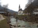 Archiv Foto Webcam Malerwinkel in Ramsau bei Berchtesgaden - Ortskirche St. Sebastian 02:00