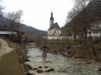 Archiv Foto Webcam Malerwinkel in Ramsau bei Berchtesgaden - Ortskirche St. Sebastian 04:00