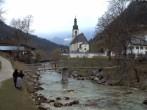 Archiv Foto Webcam Malerwinkel in Ramsau bei Berchtesgaden - Ortskirche St. Sebastian 10:00