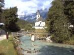 Archived image Webcam Ramsau - Berchtesgaden - St. Sebastian Church 02:00