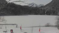 Archived image Webcam Oberstdorf: Freibergsee Sunbathing Area 04:00