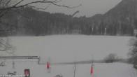 Archived image Webcam Oberstdorf: Freibergsee Sunbathing Area 08:00