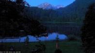 Archived image Webcam Oberstdorf: Freibergsee Sunbathing Area 22:00