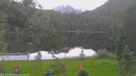 Archived image Webcam Oberstdorf: Freibergsee Sunbathing Area 14:00