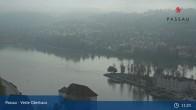 Archiv Foto Webcam Passau: Blick von der Veste Oberhaus auf Donau und Altstadt 05:00