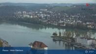 Archiv Foto Webcam Passau: Blick von der Veste Oberhaus auf Donau und Altstadt 11:00