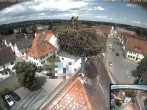 Archived image Webcam Stork Nest on top of the Town Hall of Jettingen-Scheppach 06:00