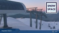 Archived image Webcam Chair Lift Starjet 3 (Top Station) 00:00