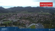 Archived image Webcam View at Oberstdorf city 19:00