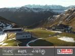 Archiv Foto Webcam Saalbach: Bergstation der Westgipfelbahn 02:00
