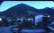 Archived image Webcam features a view of the Tennergebirge mountains 22:00