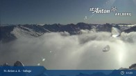 Archived image Webcam Valluga mountain (2.809 meters) 07:00