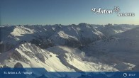 Archived image Webcam Valluga mountain (2.809 meters) 09:00