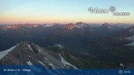 Archived image Webcam Valluga mountain (2.809 meters) 19:00