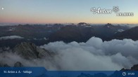 Archived image Webcam Valluga mountain in St. Anton 23:00