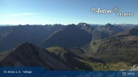 Archived image Webcam Valluga mountain in St. Anton 03:00