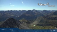 Archived image Webcam Valluga mountain in St. Anton 05:00