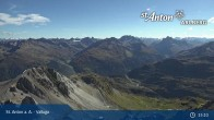 Archived image Webcam Valluga mountain in St. Anton 09:00