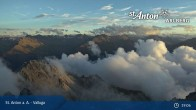 Archived image Webcam Valluga mountain in St. Anton 13:00