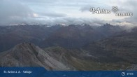 Archived image Webcam Valluga mountain in St. Anton 19:00