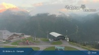 Archived image Webcam Gampen (Mountain Restaurant) 21:00