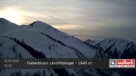 Archived image Webcam View from Laerchfilzkogel 1645m 23:00