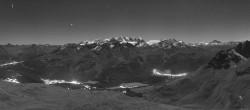 Archived image Webcam St. Moritz / Piz Nair Top Station 22:00