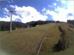 Archived image Webcam Hauser Kaibling: Mid station Tauern Seilbahn 10:00
