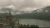 Archived image Webcam St. Moritz village Hotel Badrutt's Palace together with lake St. Moritz 06:00