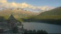 Archived image Webcam St. Moritz village Hotel Badrutt's Palace together with lake St. Moritz 12:00