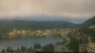 Archived image Webcam St. Moritz village II View from Hotel Schweizerhof towards St. Moritz Bad 02:00