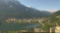 Archived image Webcam St. Moritz village II View from Hotel Schweizerhof towards St. Moritz Bad 04:00
