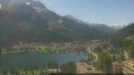 Archived image Webcam St. Moritz village II View from Hotel Schweizerhof towards St. Moritz Bad 06:00