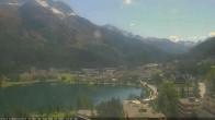 Archived image Webcam St. Moritz village II View from Hotel Schweizerhof towards St. Moritz Bad 08:00