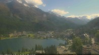 Archived image Webcam St. Moritz village II View from Hotel Schweizerhof towards St. Moritz Bad 10:00