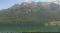 Archived image Webcam St. Moritz village III View from Hotel Schweizerhof towards lake St. Moritz 08:00