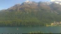 Archived image Webcam St. Moritz village III View from Hotel Schweizerhof towards lake St. Moritz 10:00