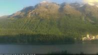 Archived image Webcam St. Moritz village III View from Hotel Schweizerhof towards lake St. Moritz 12:00