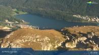 Archived image Webcam Corviglia I View towards lake St. Moritz 12:00