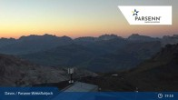 Archived image Webcam Davos Klosters: Weissfluhjoch (2260 m) 19:00