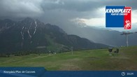 Archived image Webcam Plan de Corones South Tyrol 21:00