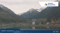 Archived image Webcam Klosters: Sports center 19:00