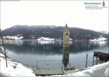 Archived image Webcam Lake Resia and the symbol of Venosta Valley 02:00