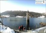 Archived image Webcam Lake Resia and the symbol of Venosta Valley 04:00