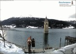 Archived image Webcam Lake Resia and the symbol of Venosta Valley 08:00