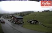 Archived image Webcam base station Brunni-Haggenegg mountain railways 12:00